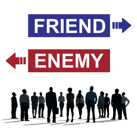 opposite: Friend Enemy Opposite Adversary Dilemma Choice Concept