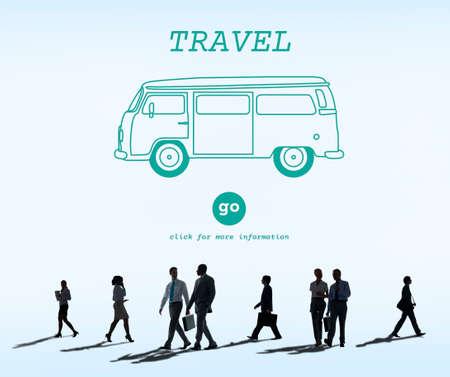 rush hour: Travel Traveling Adventure Journey Destination Van Concept Stock Photo