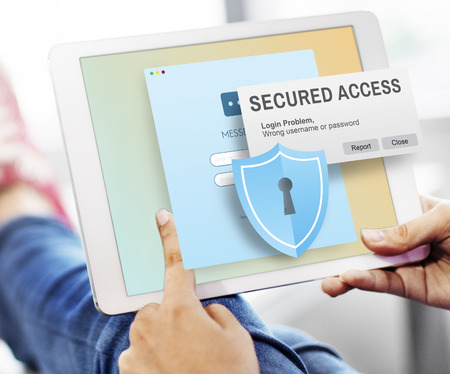social system: Secured Access Protection Online Security System Concept