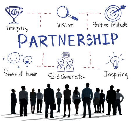 Partnership Agreement Alliance Association Unity Concept Stock Photo