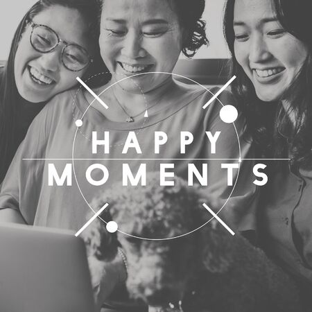 the moments: Happy Moments Laughter Happiness People Graphic Concept