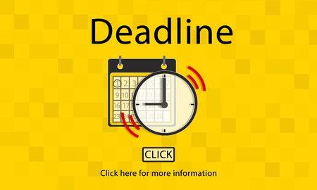 important: Deadline Target Notice Important Schedule Concept