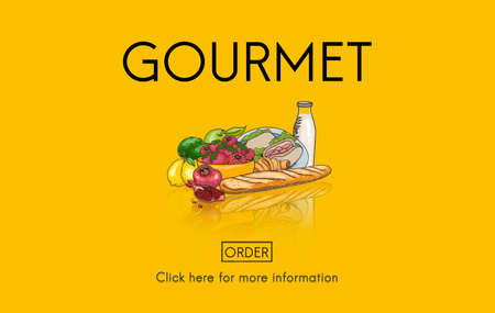 gourmet meal: Gourmet Catering Cuisine Food Fresh Healthy Meal Concept