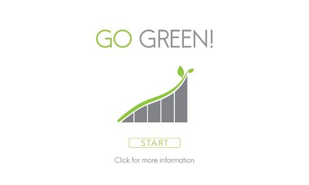 natural resources: Go Green Conservation Natural Resources Eco Concept Stock Photo