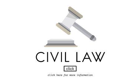 Civil Law Common Justice Legal Regulation Rights Concept Foto de archivo