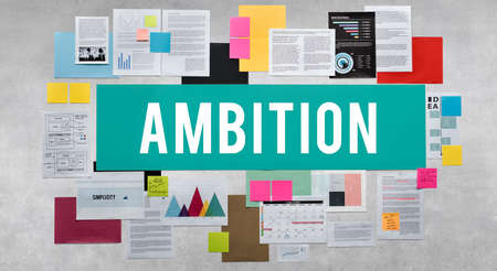 ambition: Ambition Aspiration Courage Journey Strategy Concept