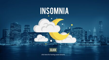 sleeplessness: Insomnia Hangover Bad Dreams Depression Cocnept
