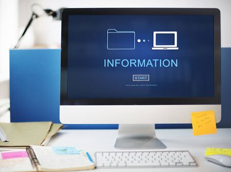 facts: Information Details Facts Communication Sharing Concept Stock Photo