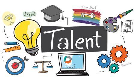 Talent Occupation Abilities Capacity Expertise Concept Banco de Imagens
