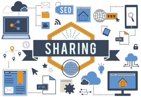 Sharing and networking concept Stock Photo