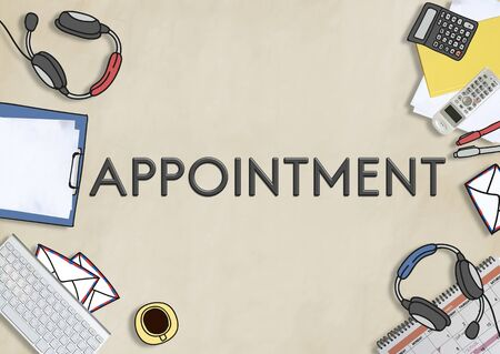 appointment: Appointment Agenda Meeting Arrangement Concept Stock Photo