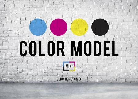 Impresión a color de tinta de color CMYK Modelo Concept