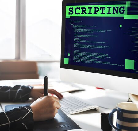 computer language: Scripting Computer Language Code Programming Developer Technology Concept Stock Photo