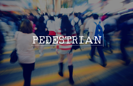 tiresome: Pedestrian Hurry Rush  Crowded Motion  Concept