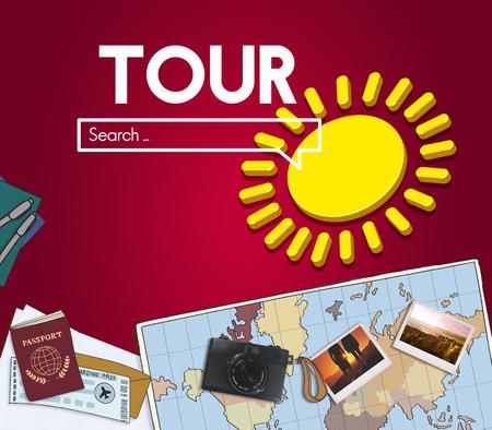 Tour internet search concept