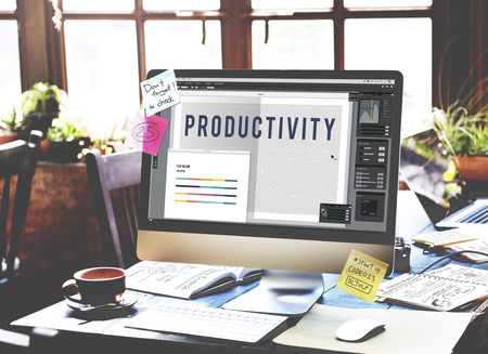 producing: Productivity Working Learning Producing Concept Stock Photo