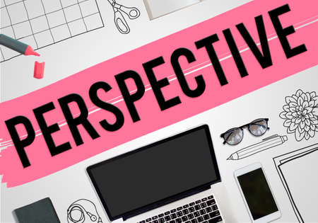 opinion: Perspective View Opinion Business Concept Stock Photo