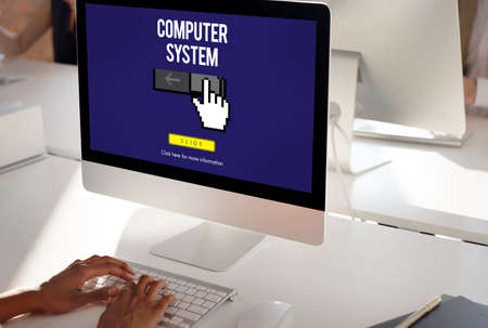 computer system: Information Technology Computer System Concept Stock Photo