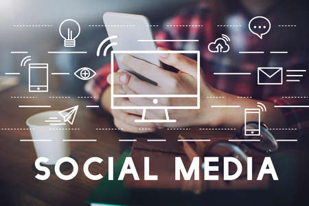 internet network: Social Media Devices Communication Connection Concept Stock Photo
