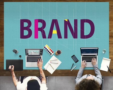 Brand Branding Copyright Label Logo Trademark Concept Stock Photo