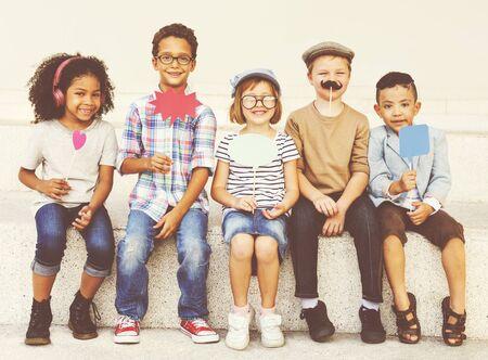 brave: Children Child Aspiration Brave Activity Success Concept Stock Photo