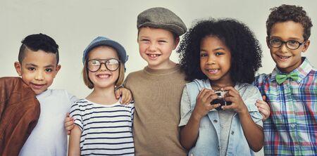 Kinderen Huddle Happiness plezier glimlachend Concept