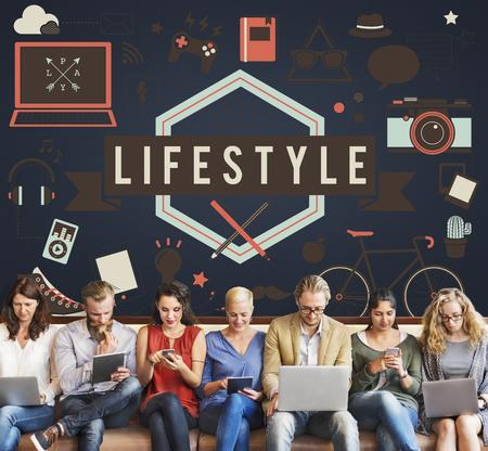 Estilo de vida Lazer Estilo de vida moderno Concept
