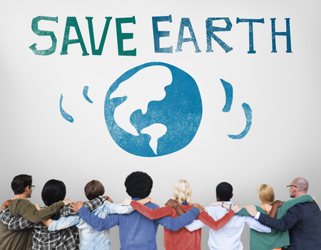 huddle: Protect Save Earth Nature Planet Concept Stock Photo