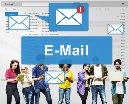 inbox: Email Inbox Electronic Communication Graphics Concept