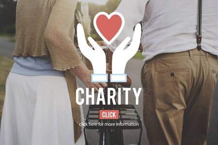 mature adult: Charity Care Social Help Volunteer Concept