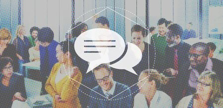 Messenger: Messenger Discussion Community Technology Graphic Concept Stock Photo