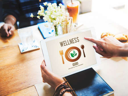 pointing herbs: Wellness Wellbeing Health Healthi Lifestyle Concept Stock Photo