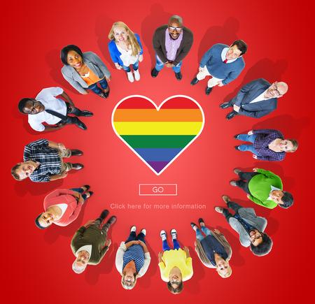Lgbt 誇り同性愛バイセクシャル トランスジェンダーのコンセプト