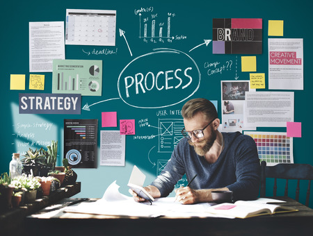 プロセス操作活動実践手順タスク コンセプト 写真素材