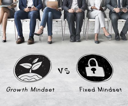 Mindset Tegenover Positiviteit Negativiteit Denken Concept