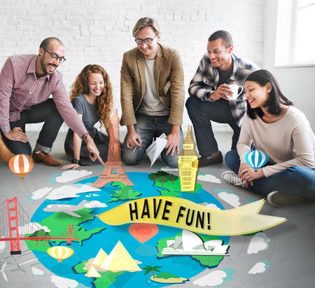 to have: Have Fun Happy Enjoyment Pleasure Joyful Concept