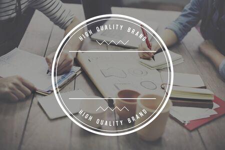 logo marketing: Branding Brand Copyright Label Logo Marketing Concept Stock Photo