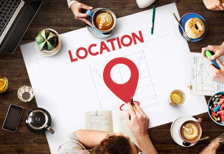 exploration: Location Direction Navigation Destination Exploration Concept Stock Photo