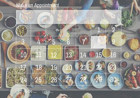 Maak een afspraak Calendar Schedule Organisatie Planning Concept