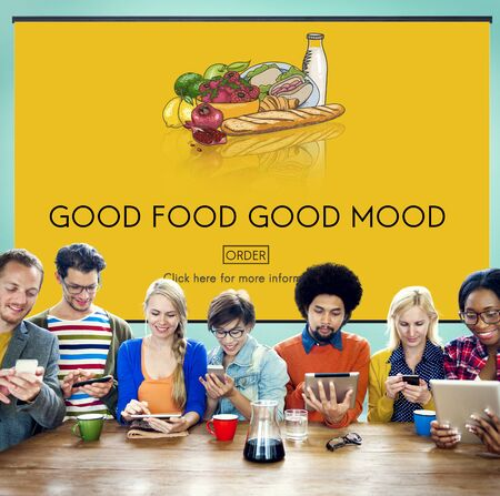 good food: Good Food Good Mood Eating Nutrition Organic Concept