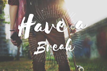 recess: Have a Break Recess Cessation Relaxation Relief Rest Concept
