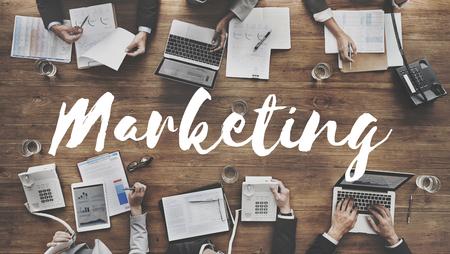 マーケティング広告ビジネス商業コンセプト 写真素材