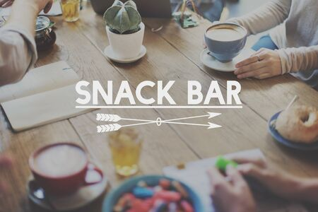 snack bar: Snack Bar Fast Food Tasty Appetite Savory Culinary Concept
