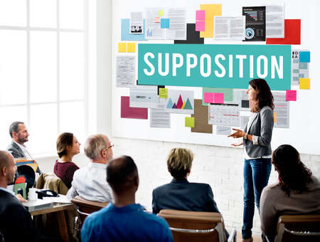 logic: Supposition Prediction Logic Ideas Concept Stock Photo