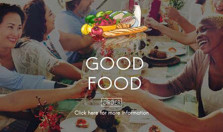 buen vivir: Buen concepto de restauración del estado de ánimo de Alimentos vida saludable Nutrición
