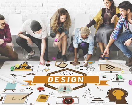 Ideas creativas de diseño Modelo esbozo del concepto de Planificación