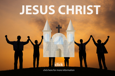 christian community: Jesus Christ Faith God Grace Holy Hope Spirit Concept