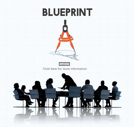 dimensions: Blueprint Architect Dimensions Project Drafting Concept Stock Photo