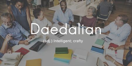 crafty: Daedalian Crafty Intelligent Artistic Smart Concept Stock Photo