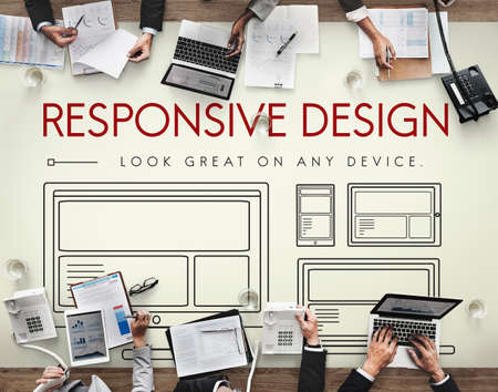 webpage: Responsive Design Layout Webpage Template Concept